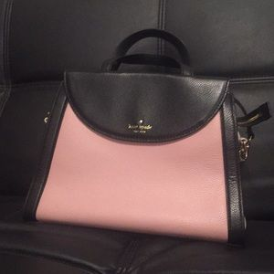 Kate Spade Adrien Cobble Hill Blush/Black Purse